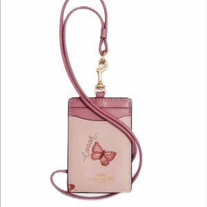 COACH ID lanyard with butterfly print